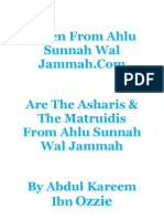 Are the Asharis & the Matruidis From Ahlu Sunnah Wal Jammah