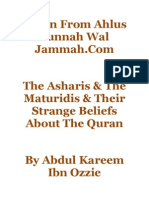 The Asharis & the Maturidis & Their Strange Beliefs About the Quran