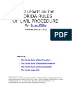 2012 UPDATE ON THE FLORIDA RULES OF CIVIL PROCEDURE