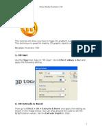 Tutorial Illustrator-3D Logo