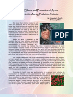 Causes, Effects and Prevention of Acute Gastroenteritis Among Pediatric Patients MS. ANDALLO