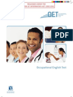 Occupational English Test October 2009