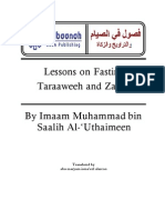 Lessons on Fasting, Taraaweeh and Zakaat by Shaikh Muhammad Bin Saalih Al-'Uthaimeen