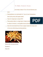 M Rizki J - How to Make French Fries
