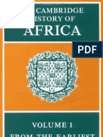 The Cambridge History of Africa, Volume 1 From the Earliest Times to c. 500 B.C.