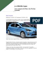 Carros - Toyota lança o híbrido Aqua