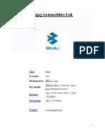 Bajaj Automobiles Ltd