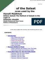 The Salaat With Evidences for the Hanafi Madhhab