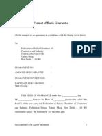 Bank Guarantee Format