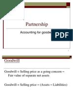 Partnership GOODWILL