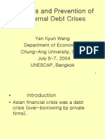 Causes and Prevention of External Debt Crises