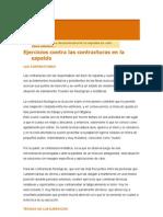 Ejercicios Contra Las Contracturas en La Espalda