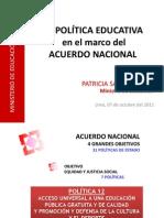 LA POLÍTICA EDUCATIVA EN MARCO DEL ACUERDO NACIONAL