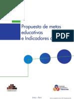 PROPUESTA DE INDICADORES EDUCATIVOS  Al 2021