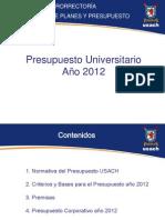 Presentacion Presupuesto Universitario 2012 Final