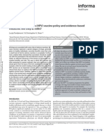 Human virus (HPV) Vaccine Policy and Evidence-based Medicine at Odds