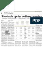 Site simula opções de financiamentos