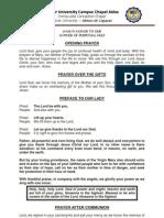 Perpetual Help Missal Guide