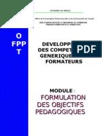 14251340 Module 4 Formulation Des Objectifs Pedagogiques
