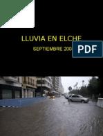 Lluvia en Elche