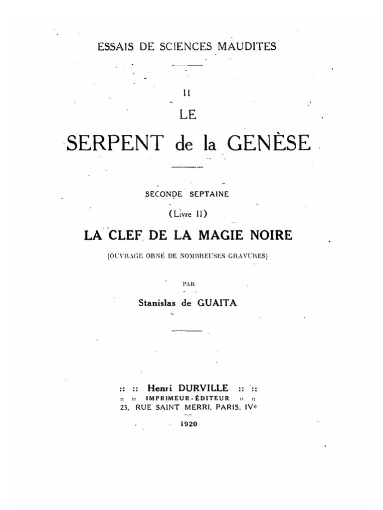 dogme et rituel de la haute magie part 2 pdf