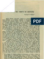 Chisholm. Roderick - La Teoria Del Objeto de Meinnong[1]