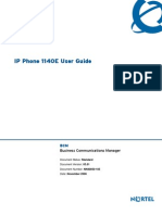 BCM Nortel 1140E IP Phone User Guide English
