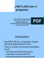 Calling MATLAB From C
