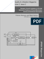 Dynamic Current Limitation to Provide Interactive Features of Power-Electronics Interfaced Distributed Generation