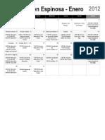 Calendario de la ICDC en Espinosa