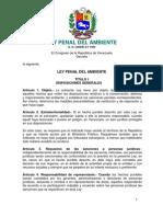 21. Ley Penal Del Ambiente