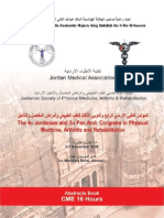 The 4th Jordanian & 3rd Pan Arab Congress in Physical Medicine, Arthritis & Rehabilitation