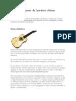 Orígenes  de la música chilena
