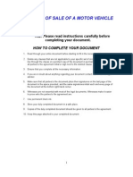 Motor Vehicle Sale Document