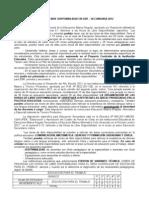 Horas de Libre Disponibilidad en Ed. Secundaria 2012.