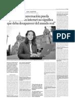 Entrevista en el periódico DEIA