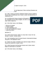 Economics Guess Paper B.com Part 1 2011