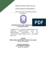 Caratula e Indice de Informe Factores de Limites de La Funcion Del Tc