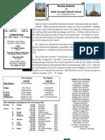 St. Joseph's January 1, 2012 Bulletin