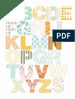 Alphabet for Magnet Paper