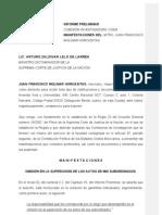 MANIFESTACIONES DE JMH AL INFORME PRELIMINAR GUARDERÍA ABC