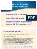 AASSManeje Con Seguridad Atropello