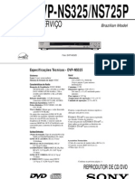 Sony - DVD DVP-NS325, 725P - Service Manual