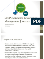 Scopus Knowledge Management Presentation