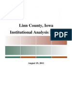 Linn County Iowa Institutional Analysis Report August 2011