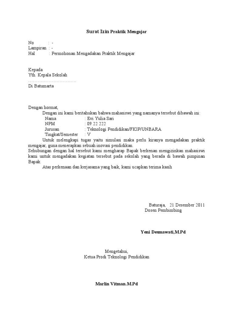 Contoh Surat Observasi Informasi Seputar Dunia Militer Dan
