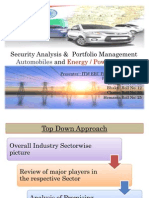 Auto & Power Industries Portfolio Analysis