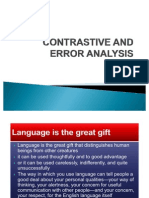 Contrastive and Error Analysis
