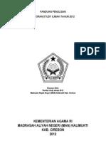 Panduan Penulisan Laporan Study Ilmiah 2012