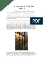 Avocat Lausanne Droit Du Travail